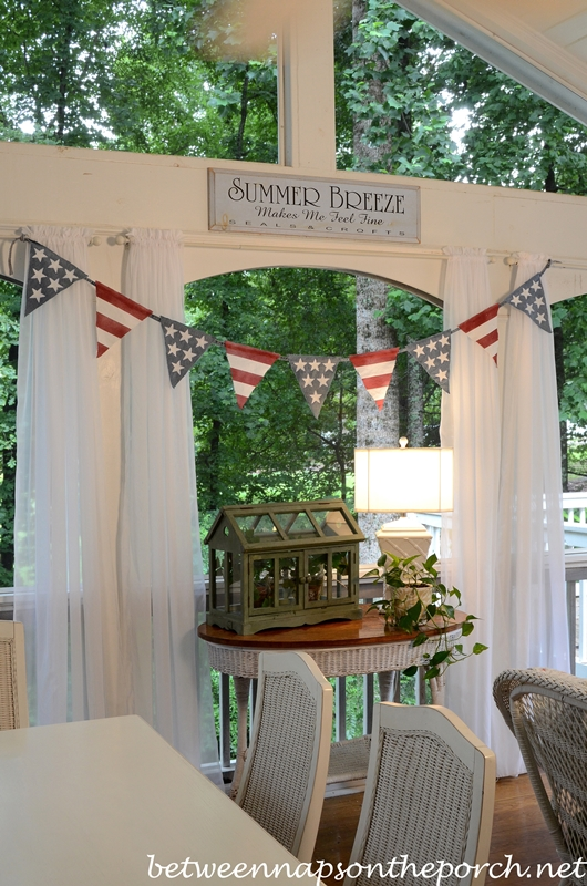 4th of July Patriotic Banner, Pottery Barn Inspired