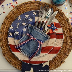 Flatware Holders Made from Repurposed Jeans
