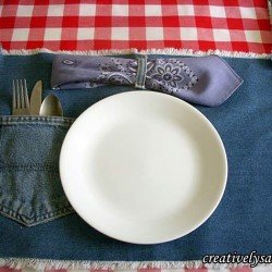 Denim Placemats for a Casual Tablescape