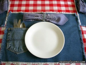 Creatively Sams Denim Placemat