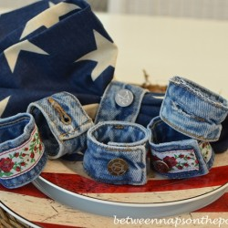 Denim Napkin Rings for Casual Dinner