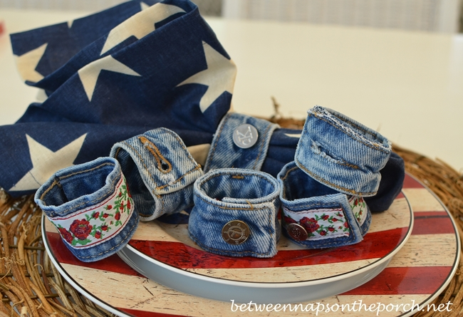 Denim-Napkin-Rings-Made-from-Old-Jeans-14