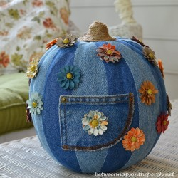 Denim Pumpkin for Halloween