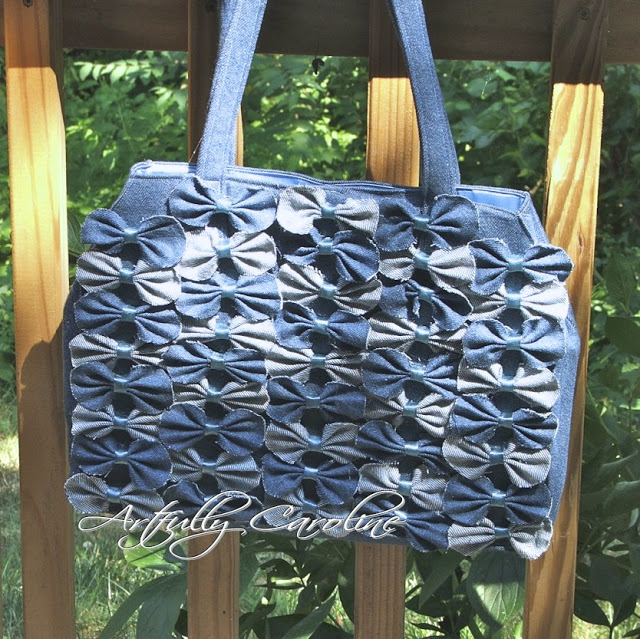 Farfalle Denim Handbag, Anthropologie Inspired