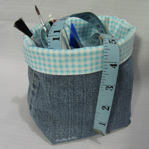 Make a Denim Fabric Container