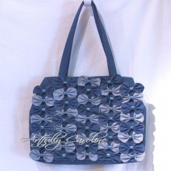 Denim Farfalle Handbag, Anthropologie Inspired