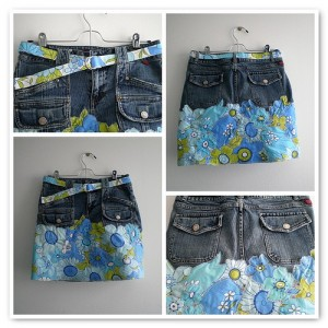 Make an Appliqued Denim Skirt