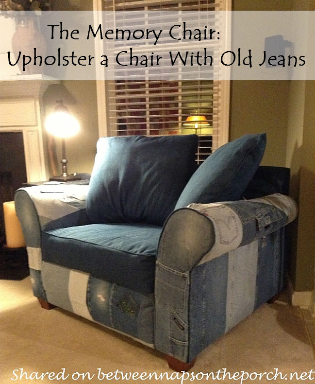 Recycle Old Jeans to Upholster a Chair (2)