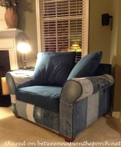 Recycle-Old-Jeans-to-Upholster-a-Chair