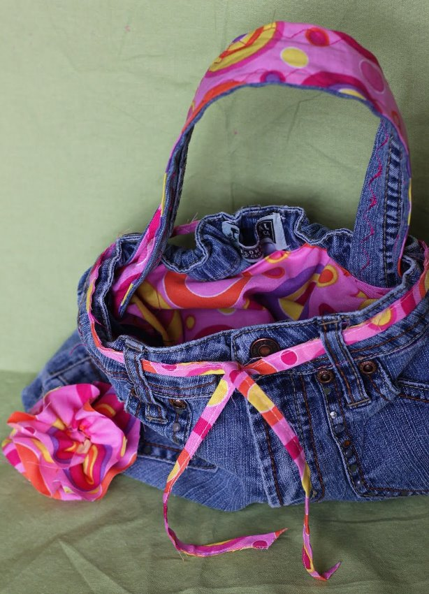 Adorable Recycled Denim Purse Made From Repurposed Jeans