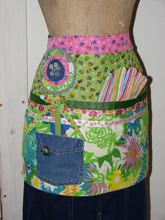 Apron Made From Repurposed Denim Jeans