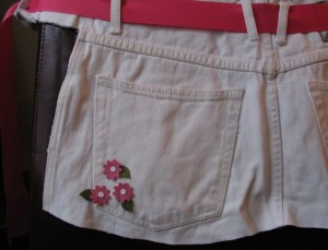 Apron Made from White Denim Jeans