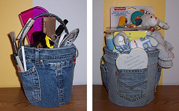 Blue Jean Caddy Container