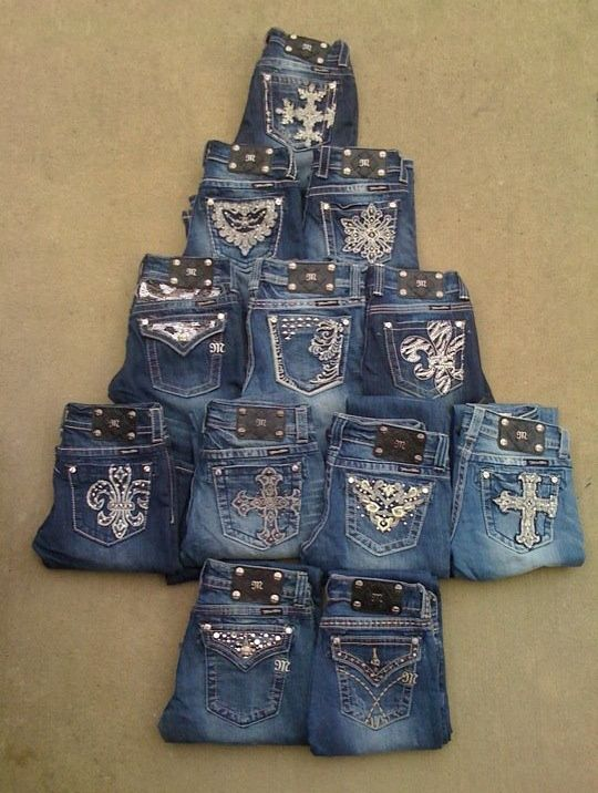 Christmas Tree Made from Denim