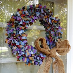 Craft a Colorful Denim Wreath from Jean Scraps