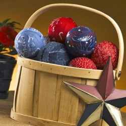 4th of July Centerpiece: Red, White & Blue Rag Balls
