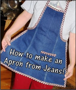 Denim Apron Made From Recycled Denim Jeans
