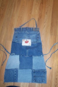 Denim Apron Made From Recycled Jeans