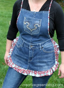Denim Apron Made from Jeans