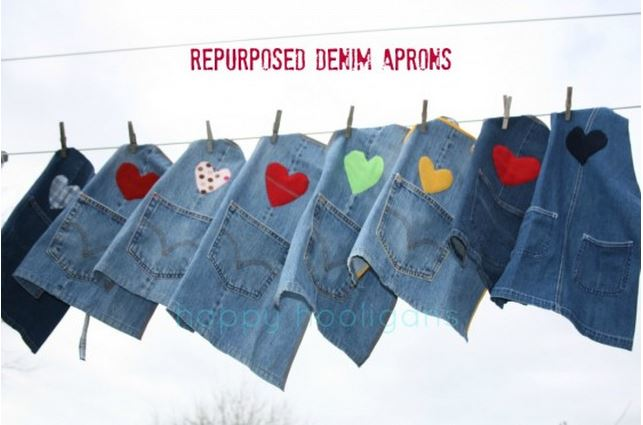 Denim Aprons with Applique