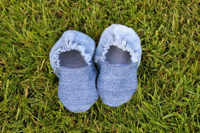 Denim Baby Shoes Made From Recycled Jeans
