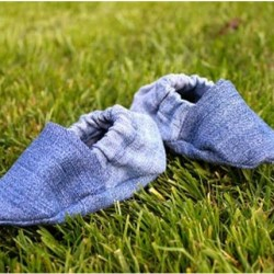 Denim Baby Shoes Made From Jeans, Robeez Inspired