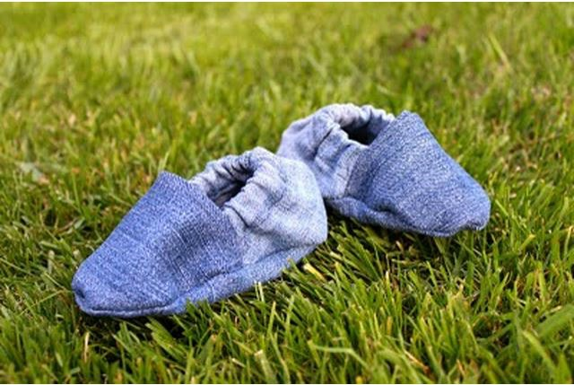 Denim Baby Shoes Made From Repurposed Jeans