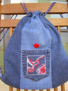 Denim Backpack Made From Old Jeans
