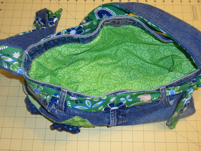 Denim Bag Purse Made from Jean Fabric