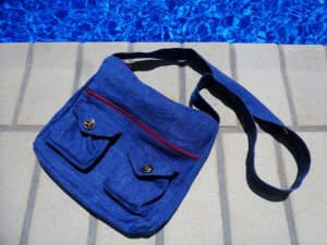 Denim Bag, Purse Made from Jeans