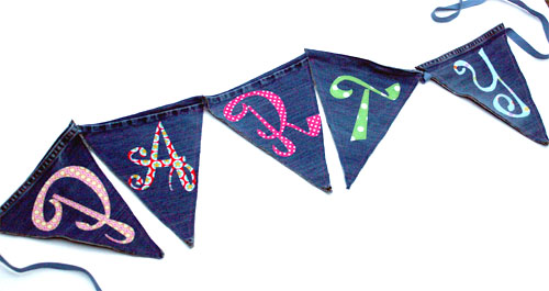 Denim Banner Made From Jeans