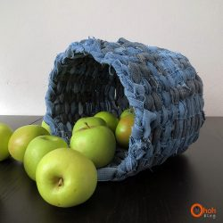 Make a Denim Basket from Recycled Jeans