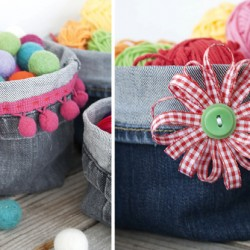 Denim Storage Baskets Made From Recycled Jeans