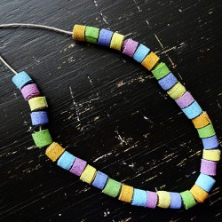 Make Colorful Denim Beads From Jeans
