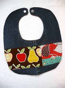 Denim Bib Made From Jeans