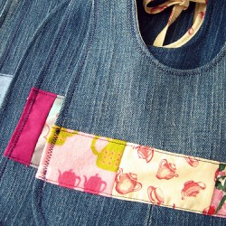 Adorable Denim Bibs Made From Repurposed Jeans