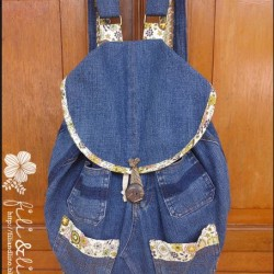 Denim Bookbag Made From Jeans