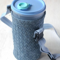 Make A Woven Denim Bottle Holder
