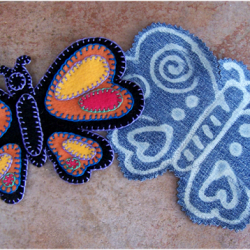 Butterfly Applique Made From Goodwill Jeans