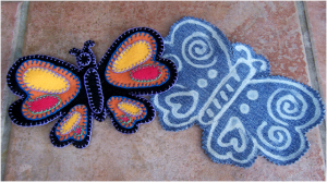 Denim Butterfly Made From Jeans