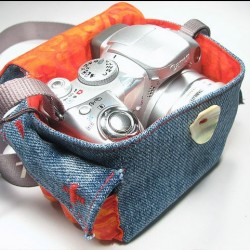 Denim Camera Bag Made from Recycled Jeans
