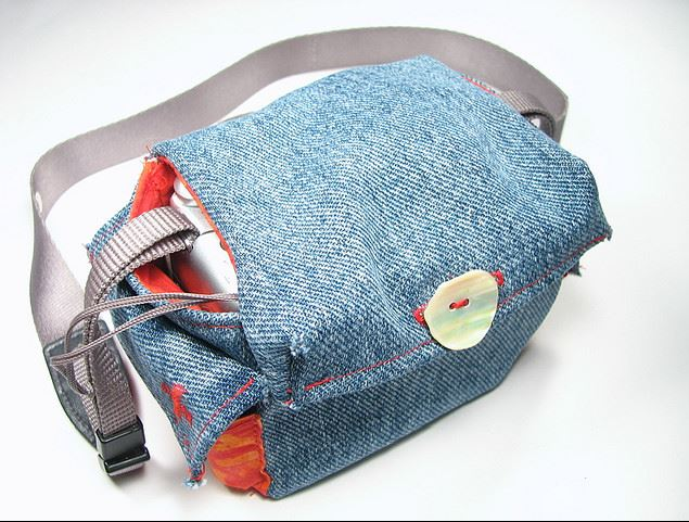 Denim Camera Bag