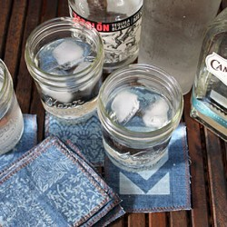 Repurpose Old Jeans into Denim Cocktail Napkins