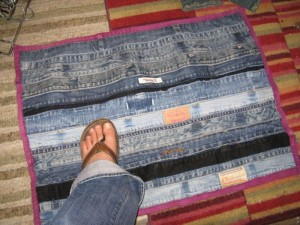 Denim Floor Mat Made From Recycled Jeans