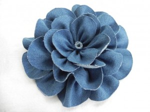 Denim Flower Made From Jeans