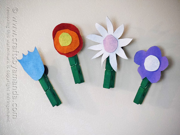 Denim Flower Magnets Made From Recycled Denim Jeans
