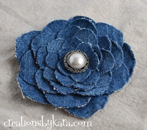 Denim Flower Tutorial Made from Jeans