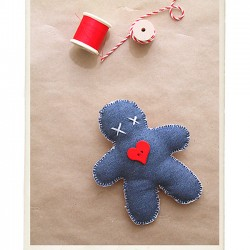 Make a Gingerbread Man Ornament for the Tree