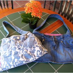 Make a Denim Purse from Thrift Store Shorts