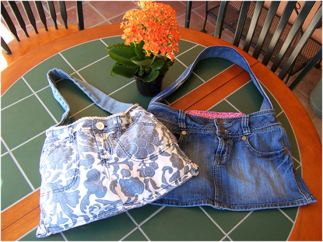 Denim Handbag with Shoulder Strap